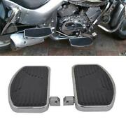 Left+right Universal Motorcycle Front Rider Floorboards Foot Boards Pedal Pads