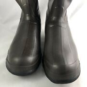 Rubber Mucking Wellington Hunting Fishing Boots Red Ball Size 13 Brown