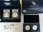 2013-w American Silver Eagle 2-coin Set Rev Proof And Enhanced Anacs Eu70 And Rp70