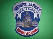 District Of Columbia Dc Metropolitan Police Machined Embroidered Patch