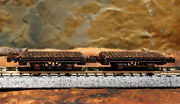 1 N Scale Anatevka Logging Mining Train Painted Old West Flatbed Flat Car