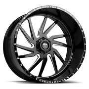 24x12 Hd Pro Forged Hdpro-01 Hornet 6x139.7 Gloss Black Milled - Wheel - Left