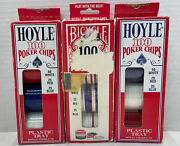 200 Nib 1988 Hoyle And 100 Used Bicycle Official Poker Chips - All Vintage