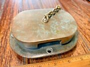 Vintage Cast Bronze Oblong Anchor Chain Pipe 2 1/2x3 1/2 I.d. Nice Age/patina