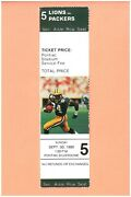 Green Bay Packers Detroit Lions 9-30-1990 Full Nfl Ticket Sterling Sharpe Photo