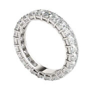 2.50 Ct Lab Grown Diamond 14k White Gold Sophisticated Wedding Band Size 4 5 6