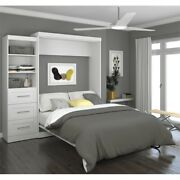 90 Queen Wall Bed Kit In White