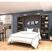 115 Queen Wall Bed Kit In Bark Gray