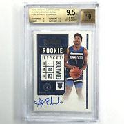 2020-21 Contenders Anthony Edwards Rookie Ticket Auto Var. 105 Bgs 9.5/10 627