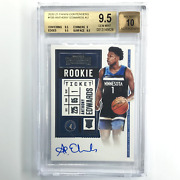 2020-21 Contenders Anthony Edwards Rookie Ticket Auto 105 Bgs 9.5/10 626