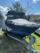Yamaha Boat Mooring Cover Black From 2015-2020 Models With Tower With Pedestal