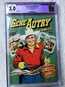 Gene Autry No. 9 July 1943 Fawcett Golden Age Cgc 3.0 68 Cream - Off White Pages