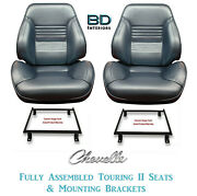 1967 Chevelle And El Camino Touring Ii Front Bucket Seats And Mounting Brackets