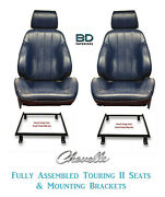 1966 Chevelle And El Camino Touring Ii Front Bucket Seats And Mounting Brackets