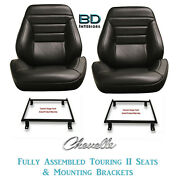 1965 Chevelle And El Camino Touring Ii Front Bucket Seats And Mounting Brackets