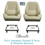 1964 Chevelle And El Camino Touring Ii Front Bucket Seats And Mount Brackets
