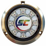 Shadow- Caster Scr-24 Bronze Underwater Light 24 Leds Full Color Changing Ca...
