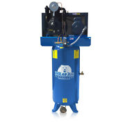 5 Hp Air Compressor 2 Stage Single Phase 60 Gallon Tank Vertical Industrial