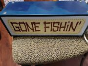 Vintage Double-sided Gone Fishin' - Camp - Light Up Sign - Nightlight