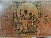Antique Burmese Lacquerwarehand Engraved Wall Artrare Large Size36 X 24 Inch