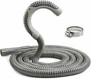 12 Ft Universal Washing Machine Drain Hose, Heavy Duty Washer Hose With Clamp