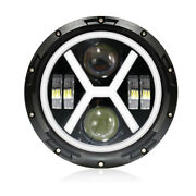 Universal Headlight Projector 7and039and039 Led Hi Low Beam Drl Headlamp For Harley Custom