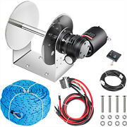 Vevor Tw200 Electric Anchor Winch Drum Winch 5500 Lbs Load 0.2x197and039 Rope Kit