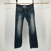 Big Star Vintage Collection Womens 25r Liv Boot Bootcut Denim Jeans Blue Zip Fly