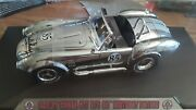 Carroll Shelby Signed 85th Happy Birthday 1/18 427 Cobra Shelby Collectables