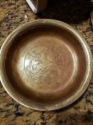 Just Andersen Bronze Bowl Inlaid With Merman And Koi Fish B96 Denmark 1920and039s