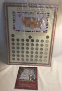 Historic Americana Series 50 State Quarter Collection With 8 Gold Plated Coins