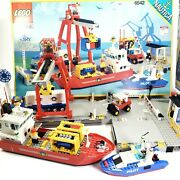 Lego System Seaport 6542 , Launch And Load, Huge Set Boats, Dock, Truck, Forklift