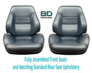 1967 Chevelle Touring Ii Front Bucket Seats Assembled And Std Rear Seat Upholstery