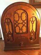 1933 Atwater Kent Model 165 Cathedral Radio - All Original Excellent Condition.