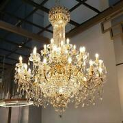 Clear Large 36/48 Arms Luxury Crystal Chandelier Light Pandent Lamp Led Fixtures