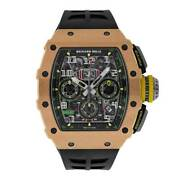 Richard Mille Rm11-03 Rose Gold Automatic Skeleton Dial Watch Rm11-03