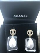 Classic Cc Pearl In Clear Box Earrings Sold Out Authentic Genuine