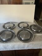 71 72 Cadillac Hub Caps 15 Set Of 5 Wheel Cover 1971 1972 Caddy Hubcaps