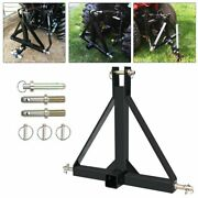 3 Point 2 Trailer Hitch Receiver Tow Drawbar Heavy Steel For Category 1 Tractor