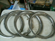 Trim Rings Wheel Hubcaps 13 1970and039s 1980and039s Original Set Of 4 Chevy Ford Dodge H