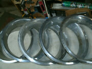 Trim Rings Wheel Hubcaps 14 1970and039s 1980and039s Chevy Ford Dodge Set Of 5 3 Deep W