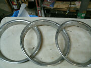 Trim Rings Wheel Hubcaps 14 1970and039s 1980and039s Original Set Of 3 Chevy Ford Dodge E