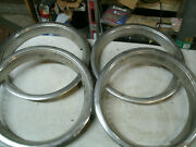Trim Rings Wheel Hubcaps 14 1970and039s 1980and039s Original Set Of 4 Chevy Ford Dodge C