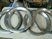 Trim Rings Wheel Hubcaps 14 1970and039s 1980and039s Original Set Of 4 Chevy Ford Dodge G