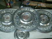 Cadillac Wire Hubcap Set Of Three 1953-1955 Covers Center Caps 15