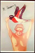 Maria Lassnig - Learn To Fly 1976 - Hand Signed And Framed Rare