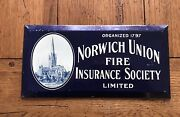 Norwich Union Fire Insurance Society Sign