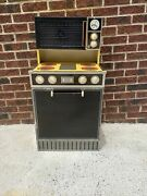 Vtg Sears Wolverine Rite Hite Harvest Gold Stove Microwave Combo Play Kitchen
