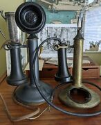 Antique Western Electric Candlestick Telephones For Parts Or Repair