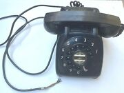 Vintage Monophone Automatic Electric Desk Phone - Rotary Dial - Black 1950s